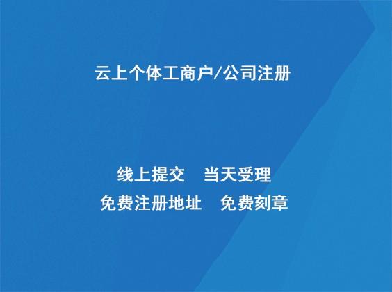 云上个体工商户/公司注册